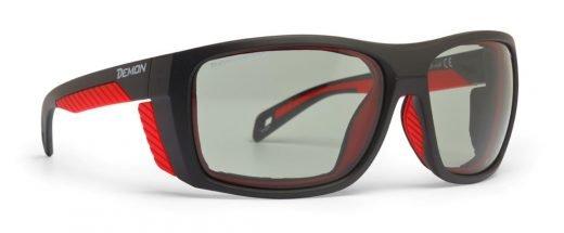 Occhiali da montagna lenti fotocromatiche 2-4 per alpinismo escursionismo e scialpinismo modello EIGER nero opaco rosso