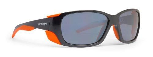 Occhiali da montagna per trekking lenti specchiate categoria 3 modello trekking nero arancio