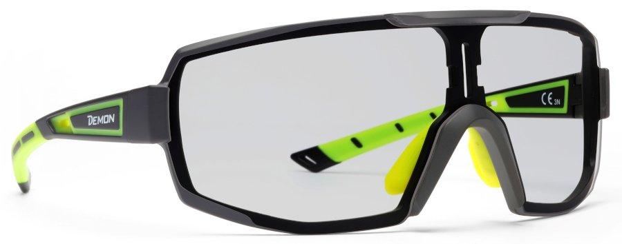 Occhiali da vista per ciclismo e running monolente fotocromatica modello performance rx nero lucido giallo