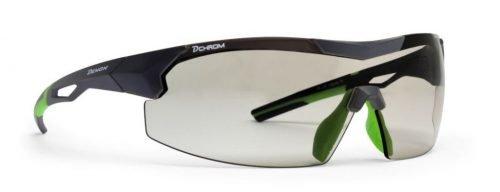 occhiali per running e trail running a mascherina con lente fotocromatica DCHROM modello VISUAL
