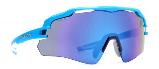 Occhiali per running e trail running monolente specchiato imperial azzurro lucido