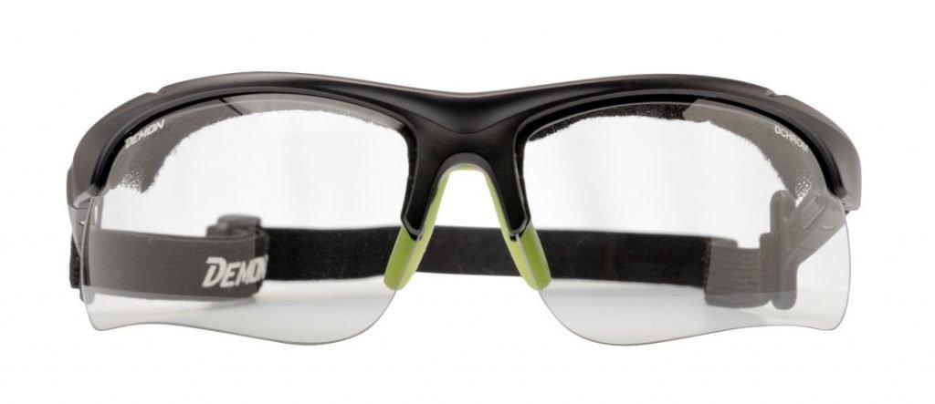 occhiali per trail running fotocromatici modello infinite optic nero con cordino elastico