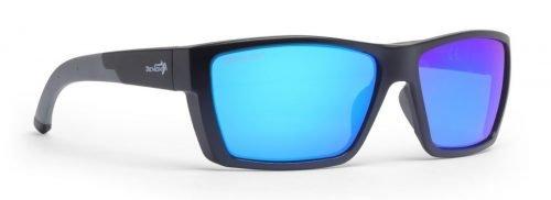Occhiali sportivi con lente polarizzata specchiata moda modello soul nero opaco