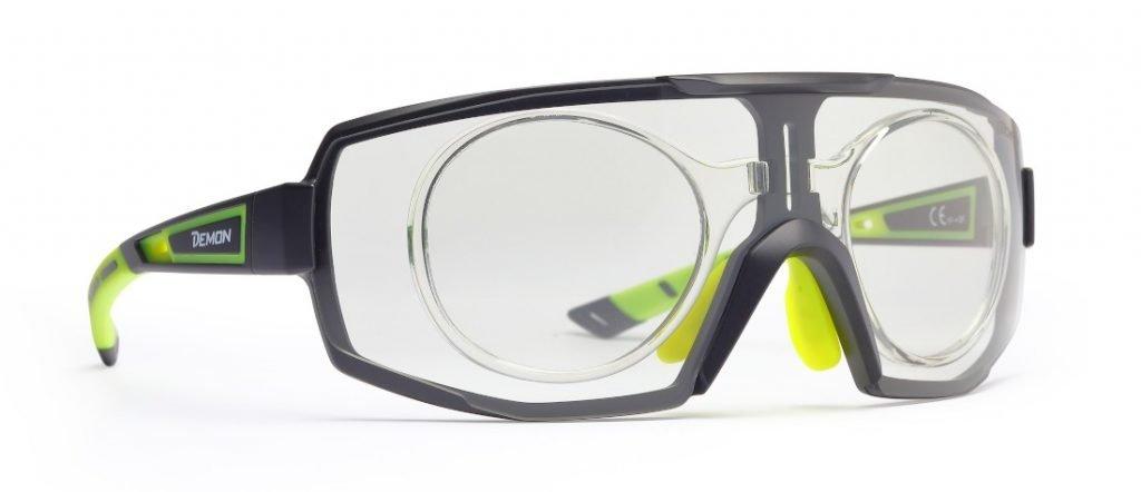 Occhiali sportivi da vista per ciclismo su strada e mountain bike monolente fotocromatica performance rx clip ottico