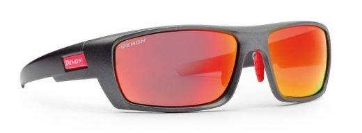 Occhiali sportivi e moda lenti specchiate multistrato modello active 2 colore grigio opaco