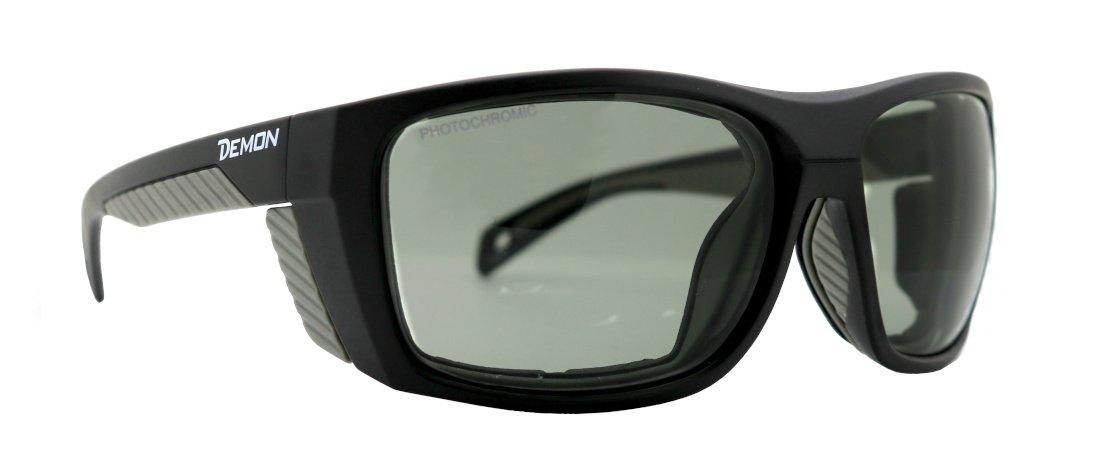 Occhiale da alpinismo lenti fotocromatiche e spugna parasudore removibile modello eiger nero grigio