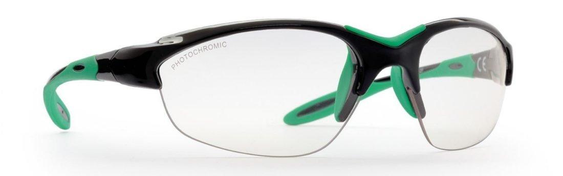 Occhiale da donna per running su strada lenti fotocromatiche modello viper nero verde