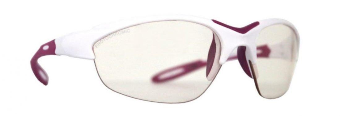 Occhiale da donna per trail running lenti fotocromatiche modello viper bianco viola
