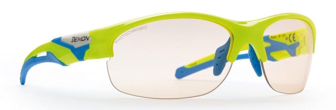 occhiale da running e trail fotocromatico modello tour giallo fluo