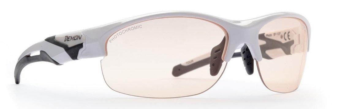 Occhiale per running su strada lente fotocromatica colore bianco lucido modello TOUR