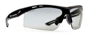 Occhiale per triathlon lenti fotocromatiche dchrom modello cabana colore nero opaco