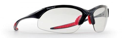 Occhiali da ciclismo e mountain bike lenti fotocromatiche fumo modello 832 carbonio rosso