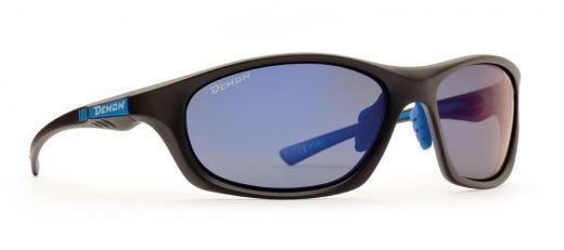 Occhiali da ciclismo lente polarizzata ultraleggero modello light nero opaco blu