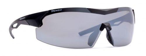 Occhiali per ciclismo su strada a mascherina visual lenti intercambiabili dchange nero opaco