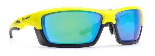 Occhiali per running e trail running lenti intercambiabili montatura removibile modello record dchange giallo fluo