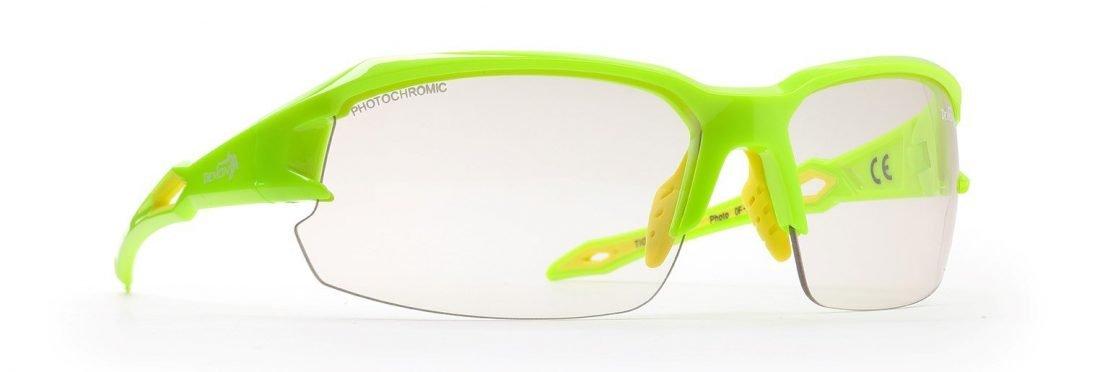 Occhiali per trail running giallo fluo lenti fotocromatiche modello TIGER