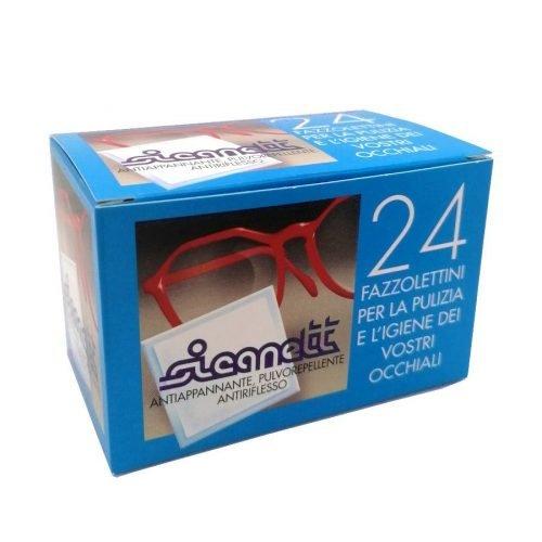 Salviette per la pulizia degli occhiali da vista e sole antiappannante pulvorepellente antiriflesso confezione da 24 pezzi