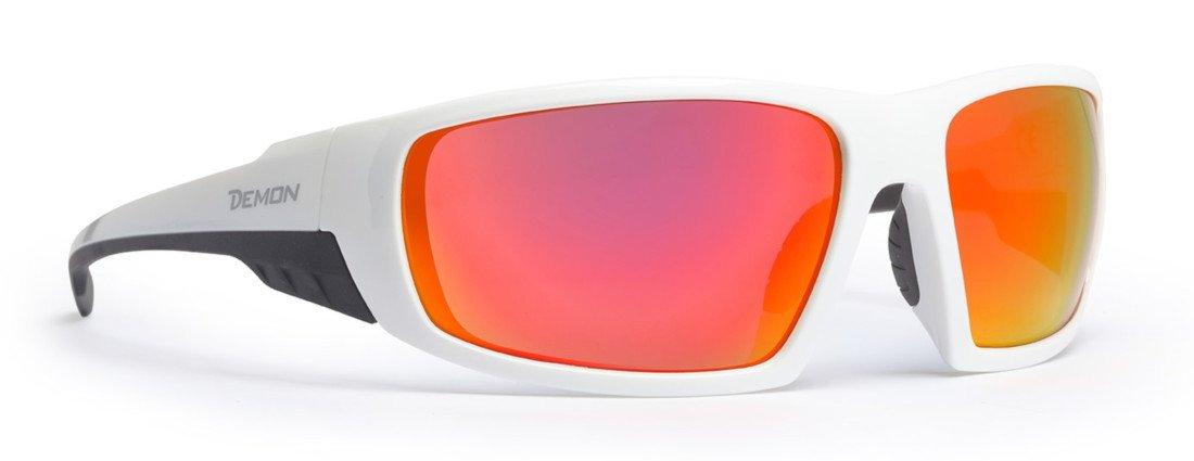 occhiale da escursionismo e trekking modello parrot lenti specchiate bianco opaco
