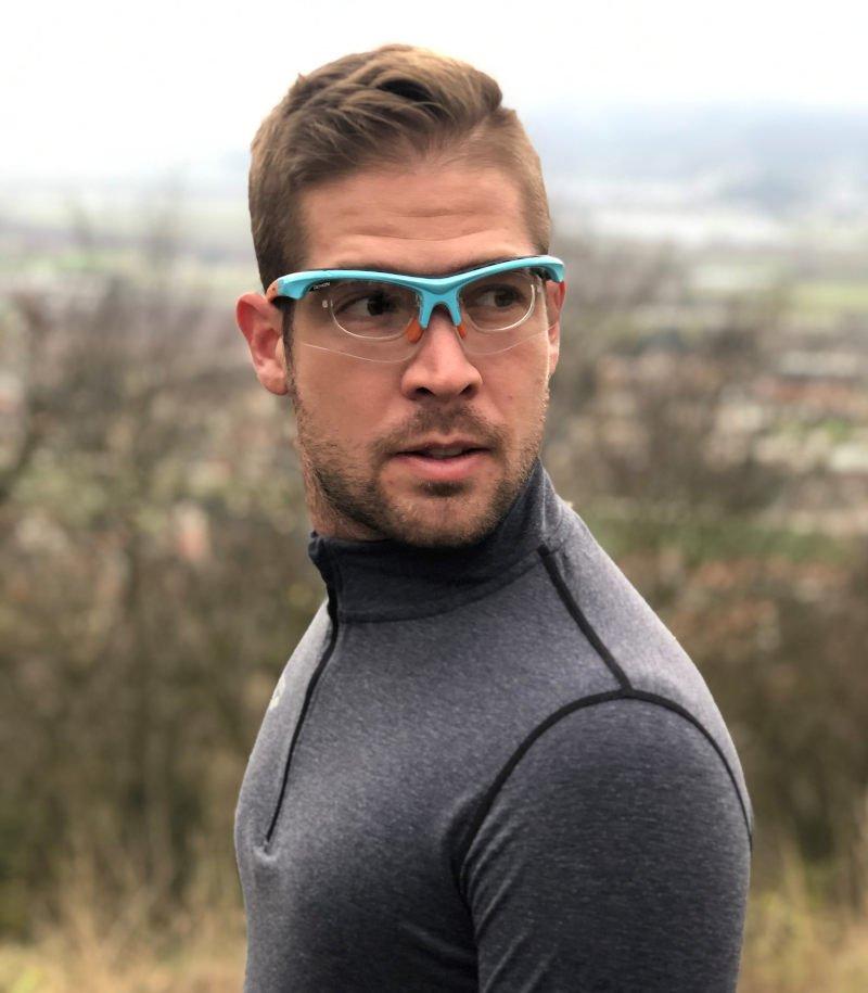 Occhiali graduati da vista per running e trail running con clip vista modello infinite optic rx