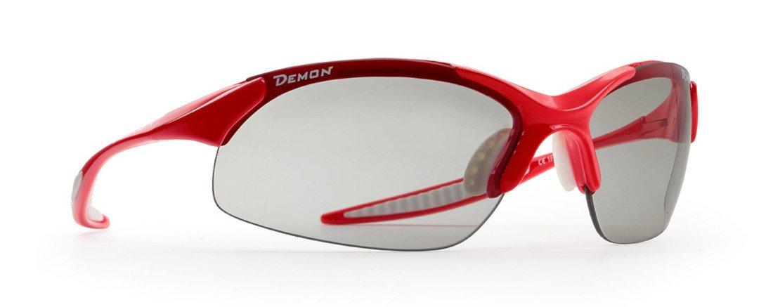 Occhiale fotocromatico demon per bdc e mtb modello 832 rosso