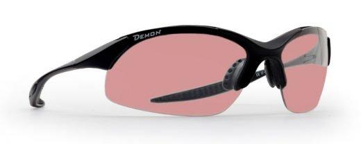 occhiali da running e trail running lenti fotocromatiche pink modello 832 nero opaco