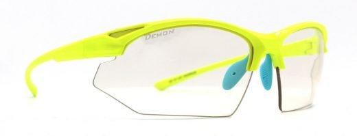 Occhiali da ciclismo e mtb design minimale modello warrior giallo fluo