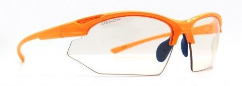 Occhiali da running e trail running design minimale modello WARRIOR arancio fluo