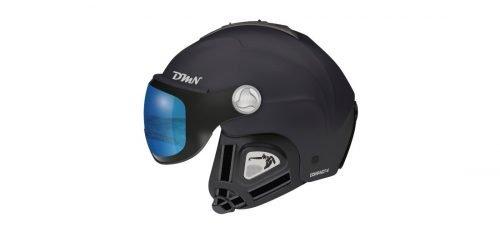 Casco da sci con visiera fotocromatica orecchio morbido modello compact v nero blu