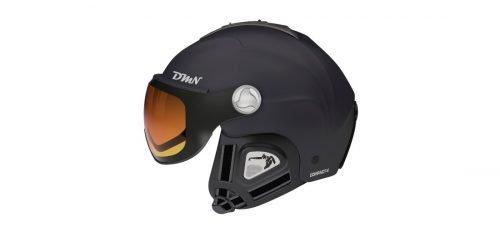 Casco da sci con visiera fotocromatica modello compact v nero arancio