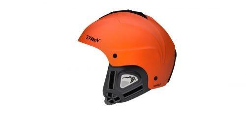 Casco da sci e snowboard con orecchio morbido modello compact arancio