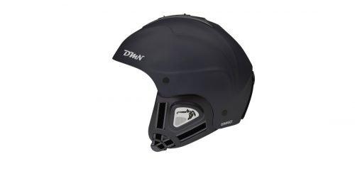 Caschi da sci e snowboard orecchio morbido modello compact nero opaco