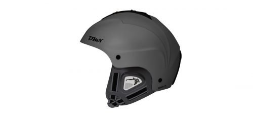 casco da snowboard orecchio morbido modello compact grigio opaco