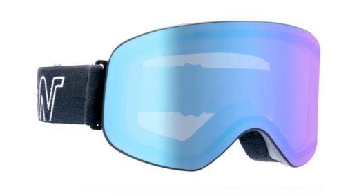 Maschera da sci lente fotocromatica specchiata blu modello master