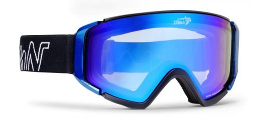 maschera da snowboard lente fotocromatica specchiata dchrom modello peak