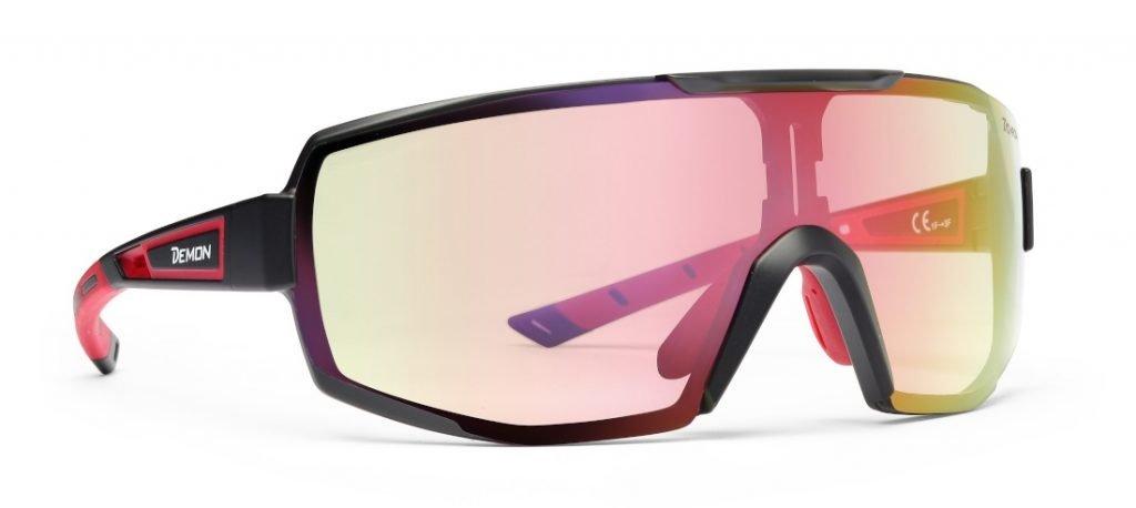 Occhiale da ciclismo lente fotocromatica specchiata modello PERFORMANCE