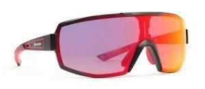 Occhiale per ciclismo su strada e mountain bike lente fotocromatica specchiata rossa