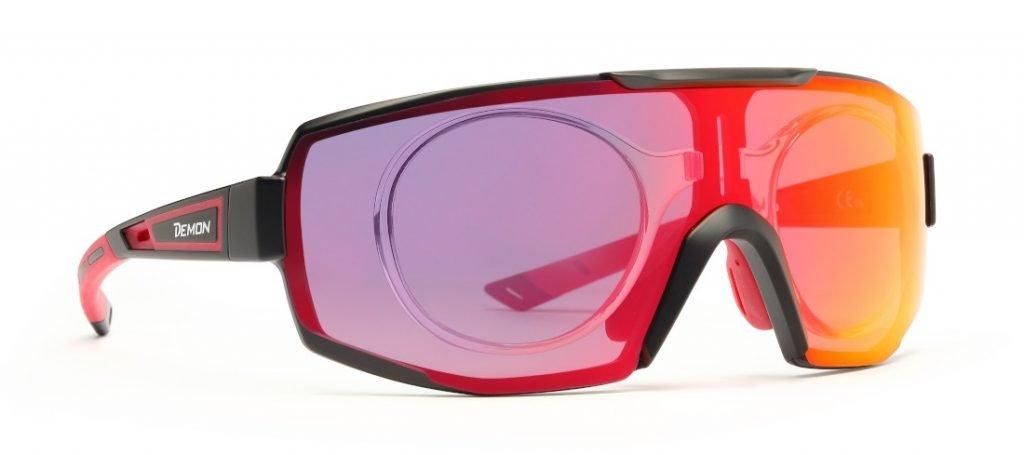 occhiale sportivo da vista per ciclismo e mtb con lente fotocromatica specchiata performance rx con clip vista