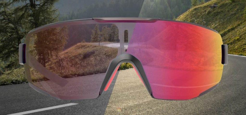 Occhiali da ciclismo con lente fotocromatica specchiata rossa per bici da corsa e mountain bike modello PERFORMANCE