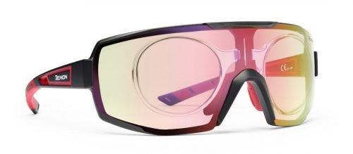 occhiali sportivi da vista per cliclismo MTB e running trail lente fotocromatica specchiata performance rx con clip vista