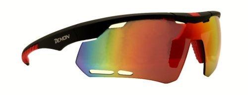 Occhiale da ciclismo per bdc mountain bike ciclocross lente specchiata dmirror con fori di areazione modello RAPID