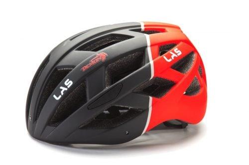 Casco da ciclismo DMN per bici da corsa e MTB nero rosso modello ENIGMA