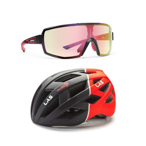 Pack 1 occhiale e casco per bici da corsa e mountain bike