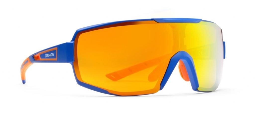 Occhiale con lenti specchiate per cicloturismo