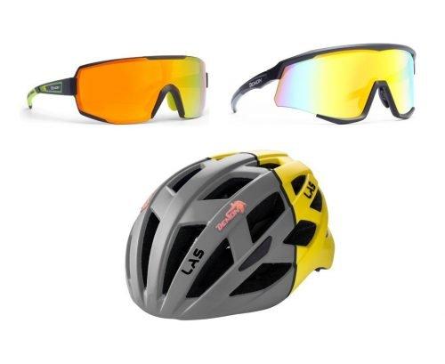 Special pack mirror casco e occhiale specchiato Demon